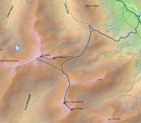 Saddle-Sgine route