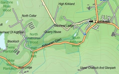 Aldouran Glen route