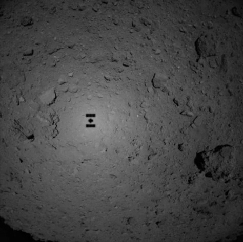 JAXA Hyabusa2 shadow on Ryugu