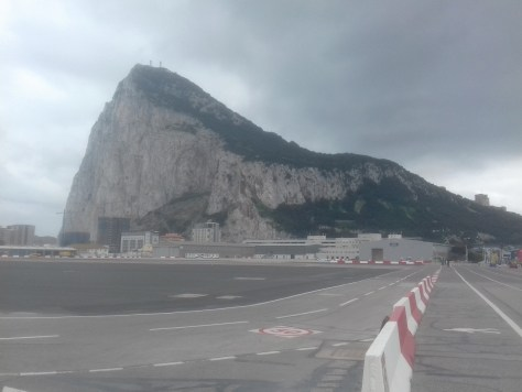 Rock of Gibraltar from the airport runway