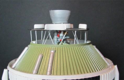 Revell 1/96 Saturn V S-II heat shield support installation