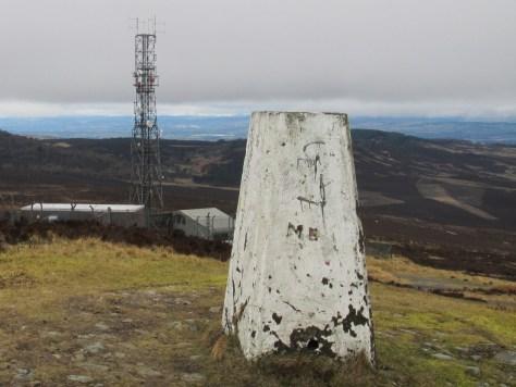 Summit of Craigowl, workers on telecom mast