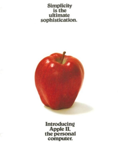 Advertising for Apple II computer, 1977