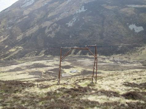 Abandoned framework on Creagan Bheithe