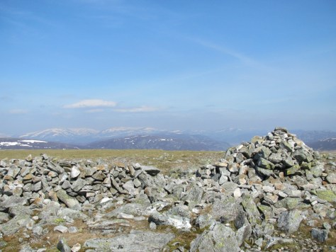 Summit of Carn a' Gheoidh, looking north