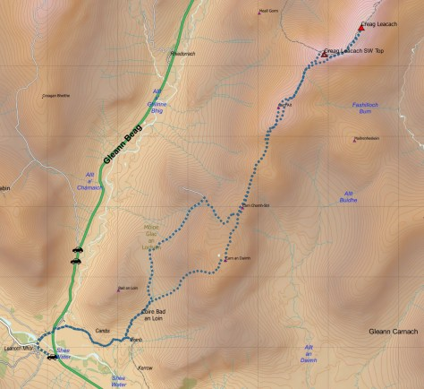 Leacach route