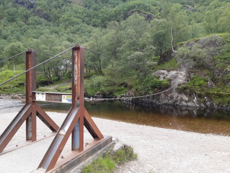 Wire bridge, Glen Nevis