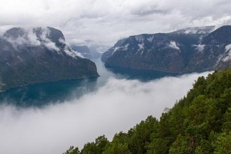 Aurlandsfjord from Stegastein viewpoint