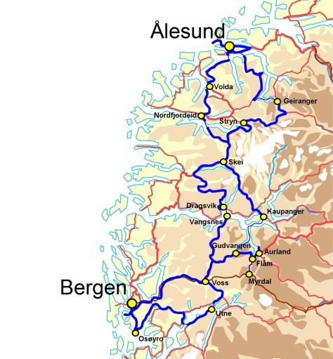 Norway fjordland route