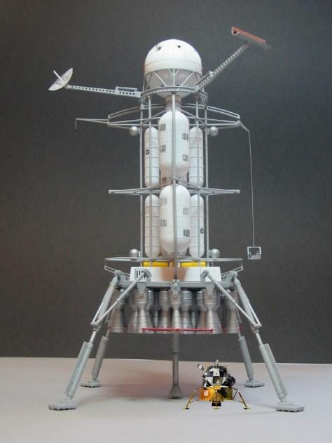 Von Braun lander and Lunar Module