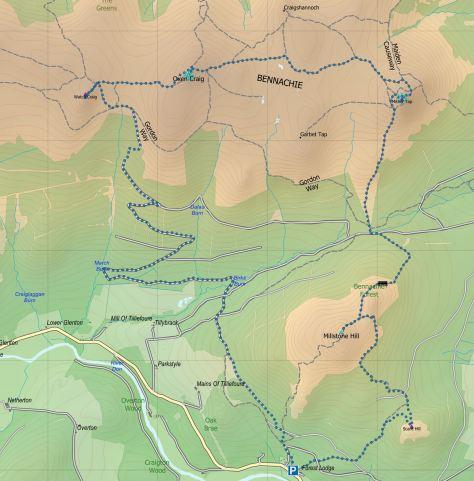 Bennachie route