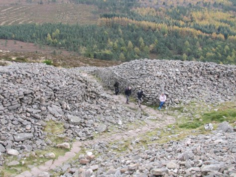 Mither Tap hillfort ramparts