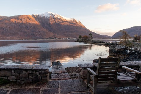 Liathach and Torridon village across Loch Torridon