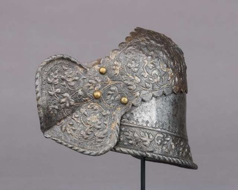 Right Poleyn from Armour of Claude Gouffier (1501–1570) (MET LC-1994 390-004)