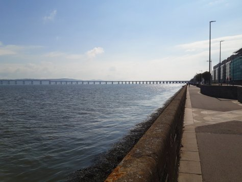 Riverside Esplanade and Tay Rail Bridge, Dundee