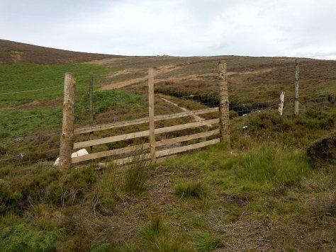 Blocked access to Threestane Hill
