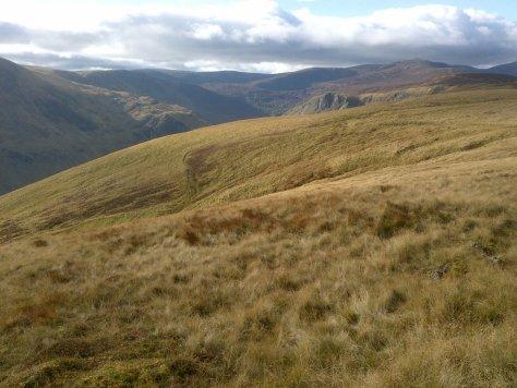 Capel Mounth track descending from The Winnoch