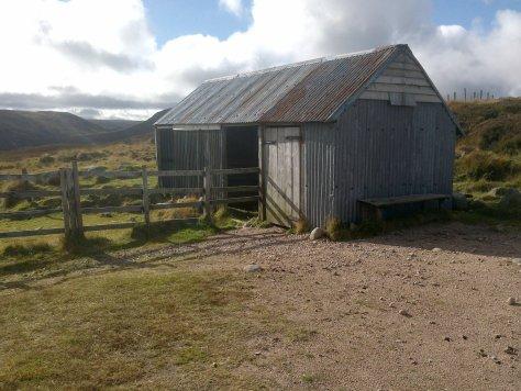 Allan's Hut, above Glen Clova