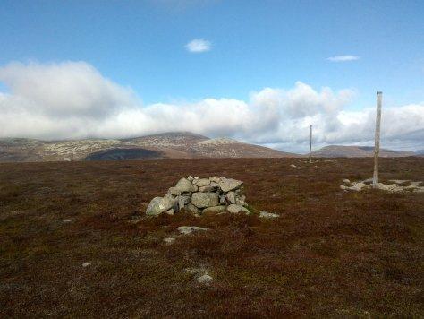 Summit of Sandy Hillock, looking towards Lochnagar