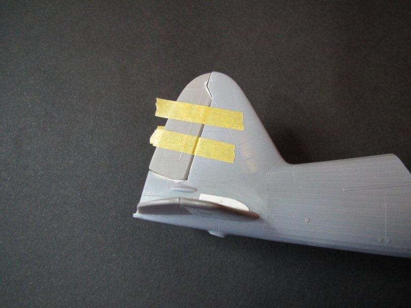 Eduard 1/48 Lysander, CMK rudder fitting