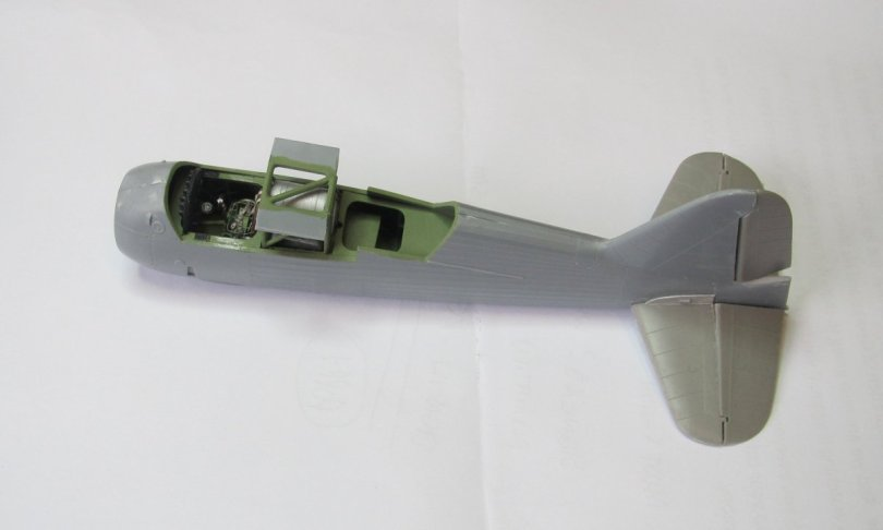 Eduard 1/48 Lysander, fuselage and tail assembly 2