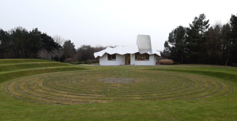 Maggie's Centre, Dundee, with labyrinth