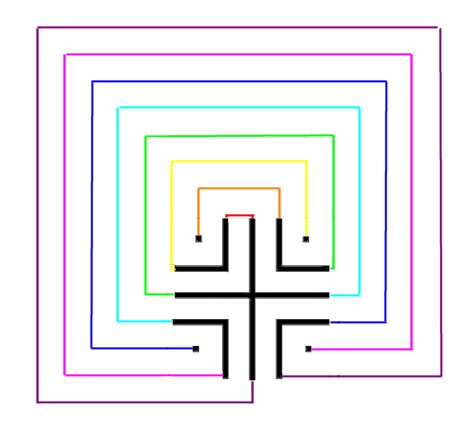 Drawing a classical labyrinth