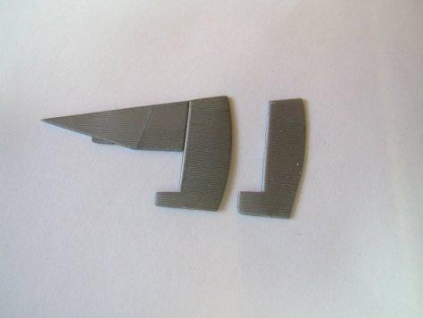 Revell 1/72 Junkers F13W amd F13 rudders