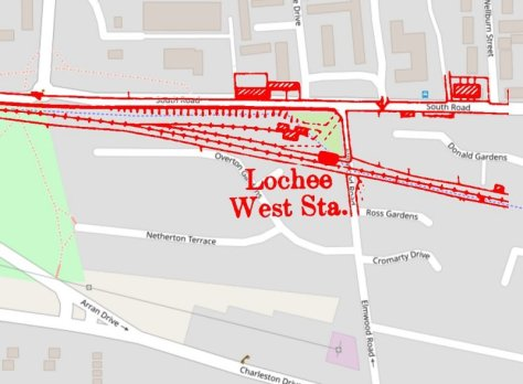 Location of Lochee West Station, Dundee-Newtyle Railway