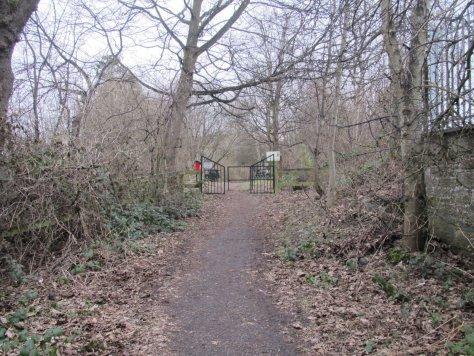 Approach to The Miley nature reserve, Old King's Cross Road, Dundee