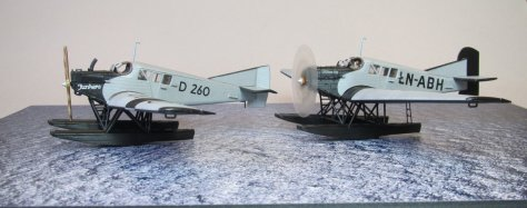 Revell 1/72 Junkers F13 LN-ABH & D 260 completed 1
