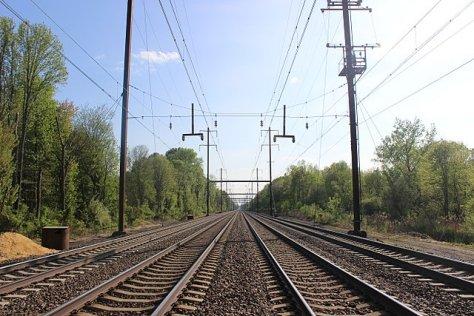 Railway vanishing point