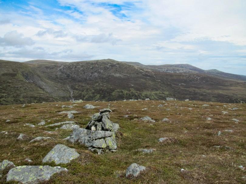 Broad Cairn and Lochnagar from Craigs of Loch Esk