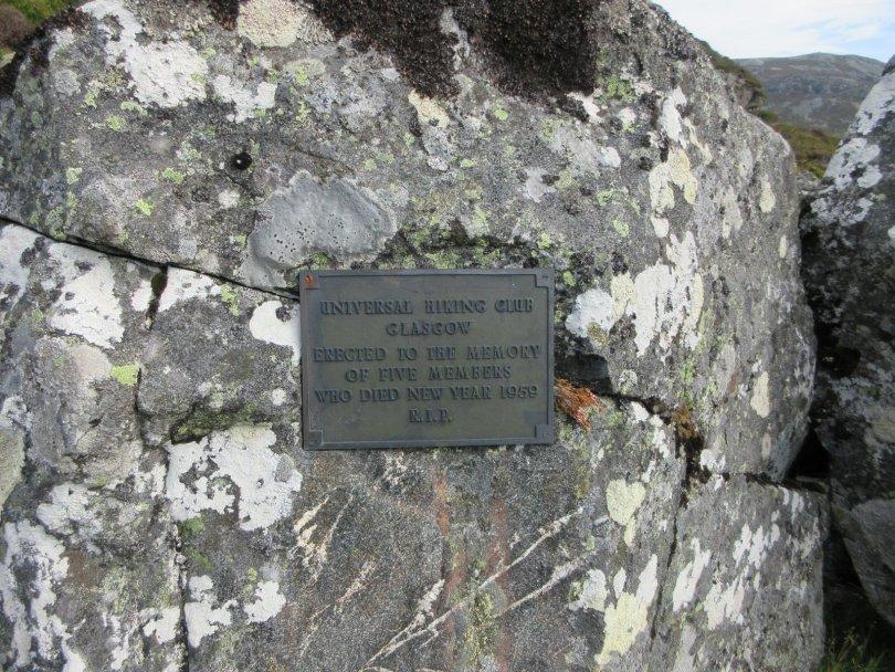 Memorial plaque, Glen Doll