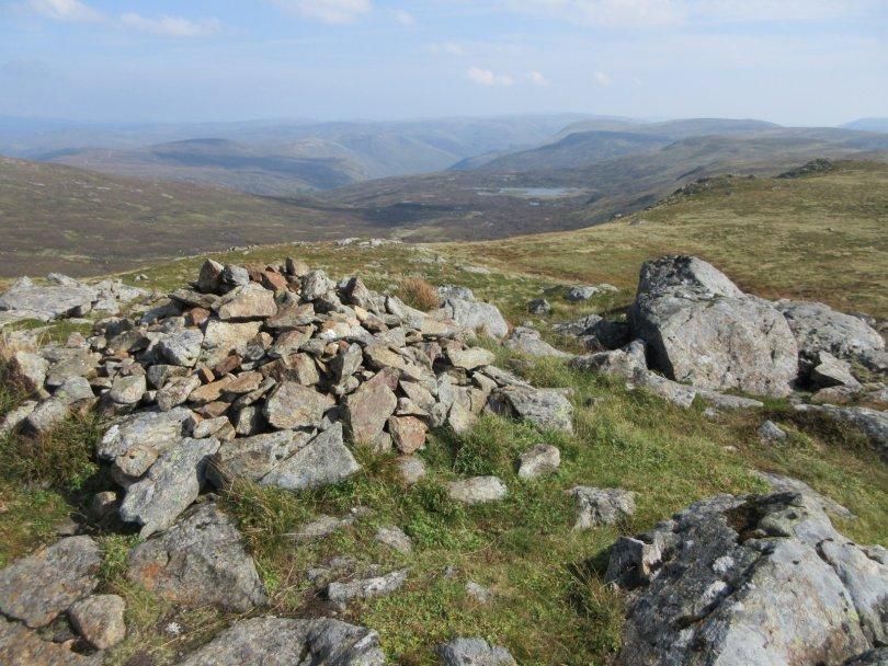 Loch Esk and distant Glen Clova from Crow Craigies