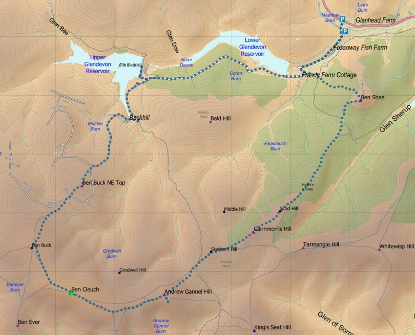 Ben Cleuch route