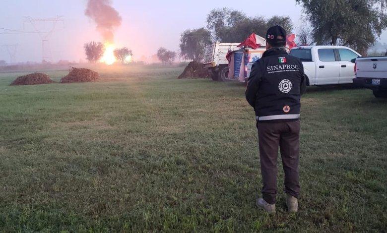 Fuerte explosión en Tlaxcala por ordeña de ducto de gas 1