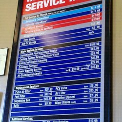 Valvoline Oil Change Price and Additional Service Pricing