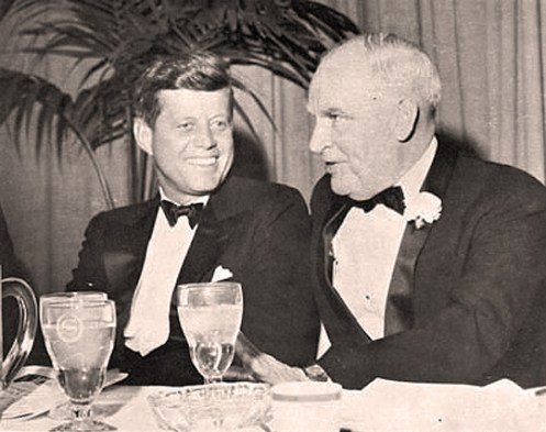 Commerce Sec. Luther Hodges with his Boss.