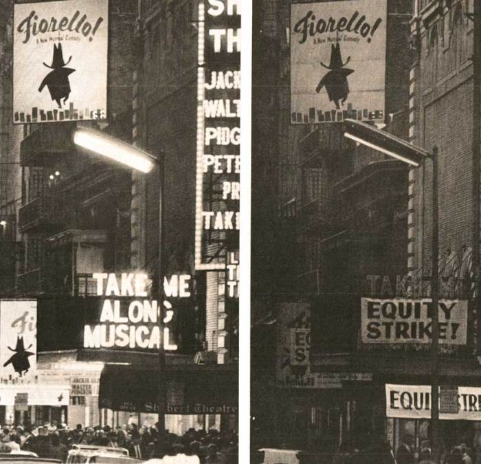 The year the lights went out on Broadway.