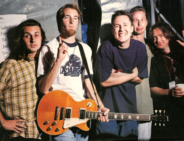 The Wonder Stuff - last known photo before packing it in - 1994.