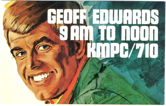 Another of the great personalities in Los Angeles Radio - Geoff Edwards (1931-2014)