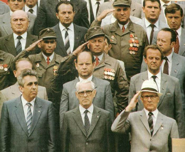 East German leadership - portrait of impending obsolescence.
