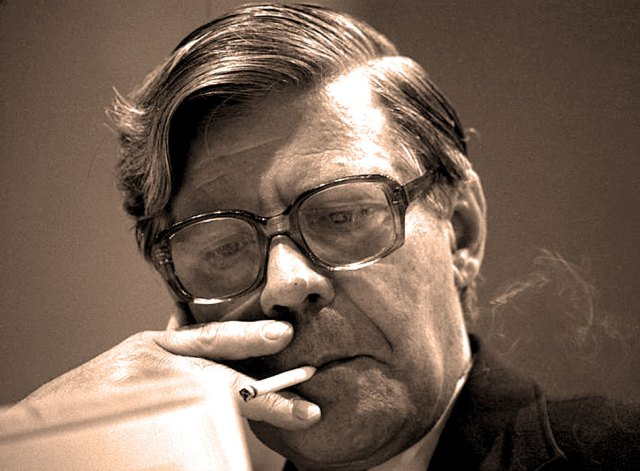 West German Chancellor Helmut Schmidt - forever in that precarious place.