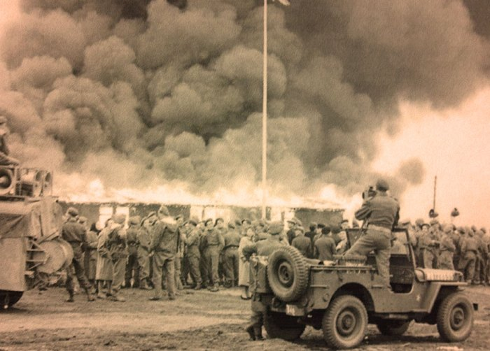 Final demolition of Belsen - May 21, 1945.