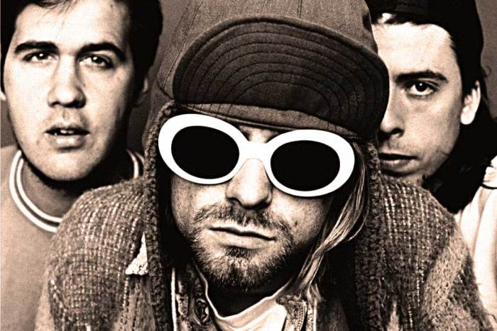 Nirvana - in 1991, gleefully blowing the lid off Pop Music.