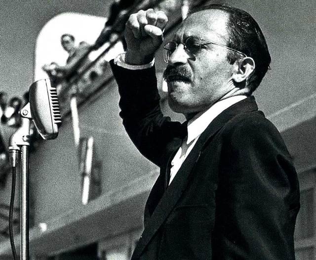 Menachem Begin in 1948 - To Communists he was a Fascist. To Fascists he was a Communist.