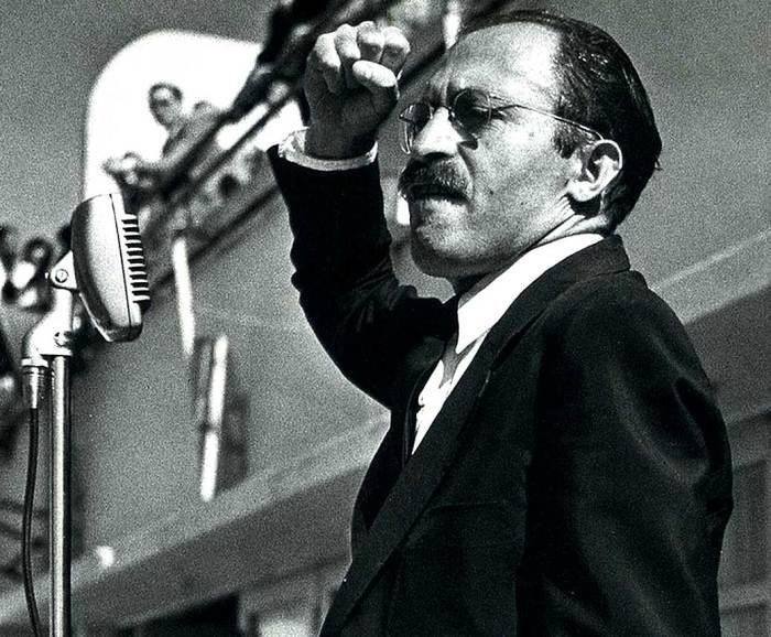Menachem Begin in 1948 - To Communists he was a Fascist. To Fascists he was a Communist.
