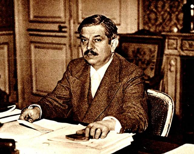Vichy Prime Minister Pierre Laval.  His popularity became quickly known.