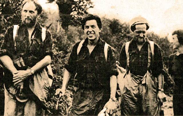 Team members (L-R) Clegg, Brown and Jackson - no small feat.